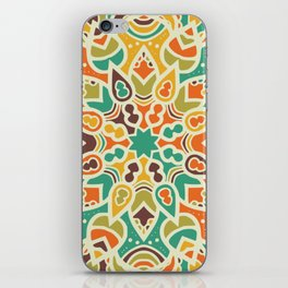 Sun mandala pattern iPhone Skin