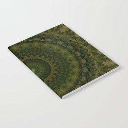 Mandala in olive green tones Notebook