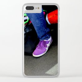 Three And A Half Feet Clear iPhone Case