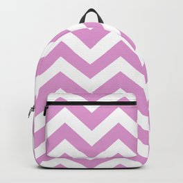 Orchid (Crayola) - violet color -  Zigzag Chevron Pattern Backpack