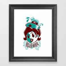 Hello nurse! Framed Art Print