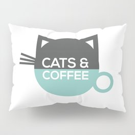 Cats and coffee Pillow Sham