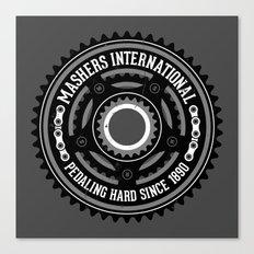 Mashers International (dark grey) Canvas Print