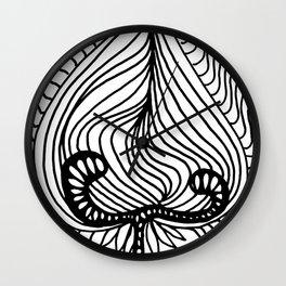 Flower Leaf Wall Clock