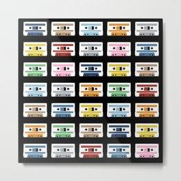 Rainbow Tapes Metal Print