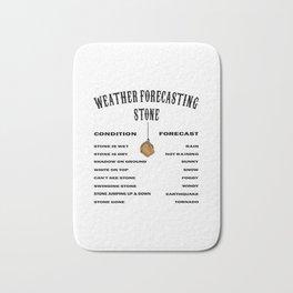 Funny Weather Forecasting Meteorology Weatherman Bath Mat