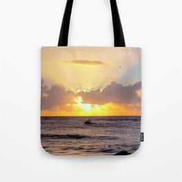 Golden Lining Tote Bag