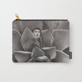 Succulent Woman Carry-All Pouch
