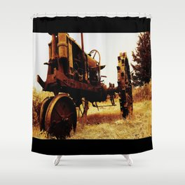 Metal Tractor Shower Curtain