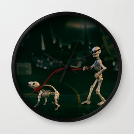 The Dog Walker Wall Clock