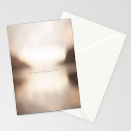 Never underestimate the power of dreams. Stationery Cards