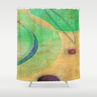 breakfast Shower Curtains featuring Breakfast by Fernando Vieira