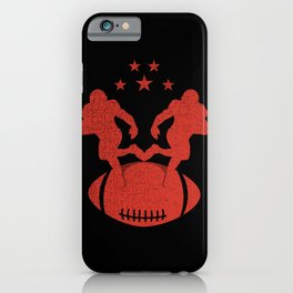 American Football / Rugby foot greeting in a distressed effect iPhone Case