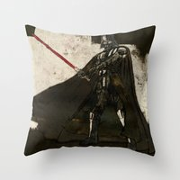 darth vader Throw Pillows featuring Darth Vader by Peter Coleman