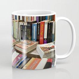 Sale of books on flea market Coffee Mug