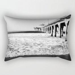 Manhattan Beach Pier Rectangular Pillow