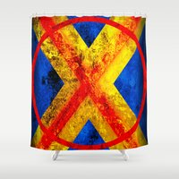 cyclops Shower Curtains featuring Cyclops by Some_Designs