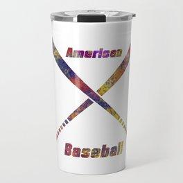 Baseball bats in watercolor 17 Travel Mug