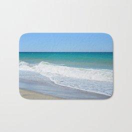 Sandy beach and Mediterranean sea Bath Mat