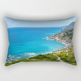Rocky coast beach in Skiathos Greece Rectangular Pillow