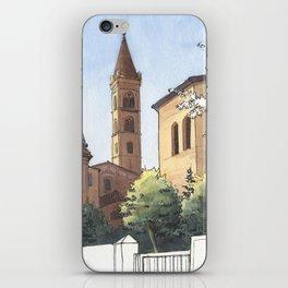 SAN DOMENICO, Bologna Travel Sketch by Frank-Joseph iPhone Skin