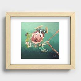 Barry the Buccaneer & his moody mate Cuckachoo Recessed Framed Print