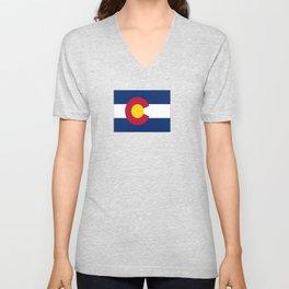 flag colorado,america,usa,south,desert, The Centennial State,Coloradan,Coloradoan,Denver,Springs Unisex V-Neck