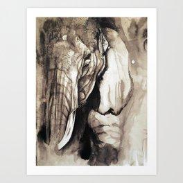 Give me an Elephant Art Print