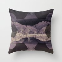 sacred geometry Throw Pillows featuring Sacred by Jemma Pope