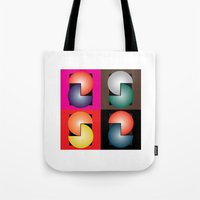 cinema Tote Bags featuring Cinema by Sants Armand