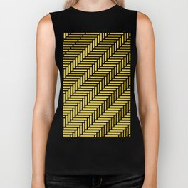 Herringbone 45 Yellow Biker Tank