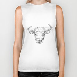 Bull illustration Biker Tank