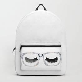 Glasses and Lashes (aka Nerdy and Flirty) Backpack