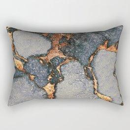 GREY & GOLD GEMSTONE Rectangular Pillow