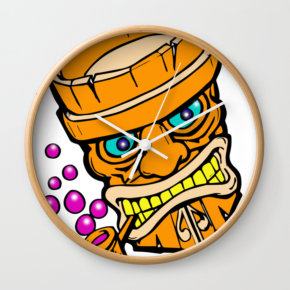 Mr Tiki The Bubble Blow'n Machine Wall Clock by Wichitacathedral CLK8501148