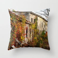 Somewhere in Rhode Island - Abandoned Mill 001  Throw Pillow