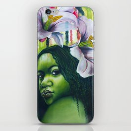 Green Lilly iPhone Skin