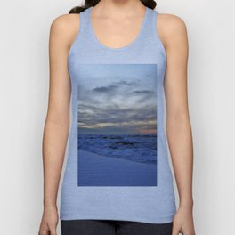 Icy Sea at Sunset Unisex Tank Top