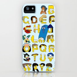 Simpsons Alphabet iPhone Case