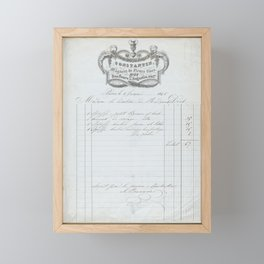 Invoice from Constantin Magasin de Fleurs fines, Paris, for plants and flowers Framed Mini Art Print