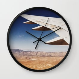 Flight Over Vegas Wall Clock