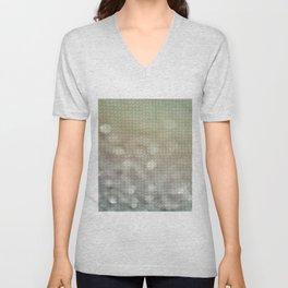 Bokeh Triangle Optical Illusion Unisex V-Neck