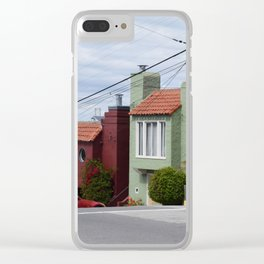 Houses of color in San Fransisco Clear iPhone Case