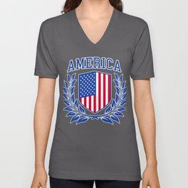 American Coat of Arms Unisex V-Neck