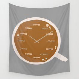TIME FOR COFFEE Wall Tapestry