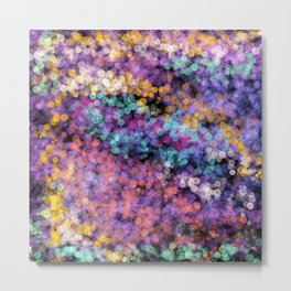 Modern abstract lavender teal watercolor bokeh Metal Print