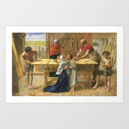 Sir John Everett Millais, Bt 1829–1896   Christ in the House of His Parents ('The Carpenter's Shop') Art Print