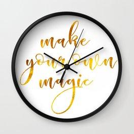 Make your own magic Wall Clock
