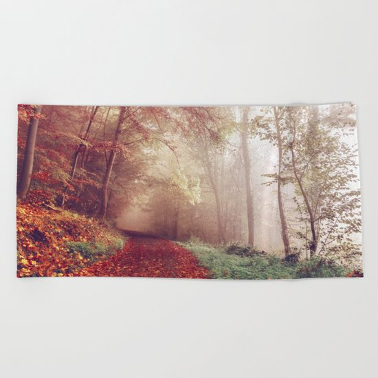 Road Less Traveled Beach Towel
