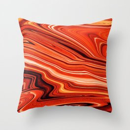 Modern Abstract orange and Yellow Layers Throw Pillow